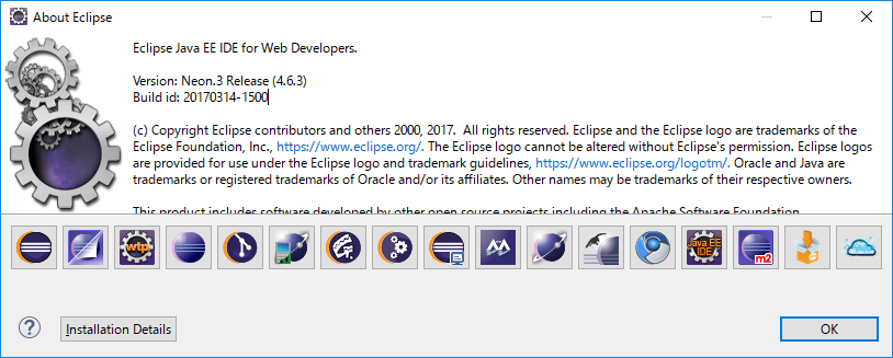 About Eclipseの表示